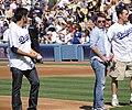 Adrian Grenier, Kevin Connolly, Kevin Dillon (Dodger Stadium).jpg