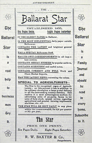 The Ballarat Star - Image: Adv 1903