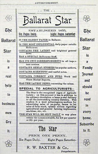 The Star (Ballarat) - Image: Adv 1903