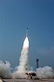 Advance Air Defence (AAD-02) interceptor missile in flying mode, launched from wheeler island of Dhamra coast in Orissa.jpg