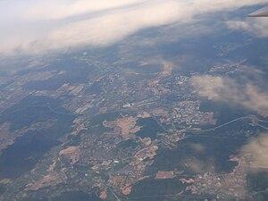 Rawang, Selangor - Aerial view of Rawang