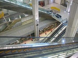 AeroTrain (Washington Dulles International Airport) - Terminal B station during construction.