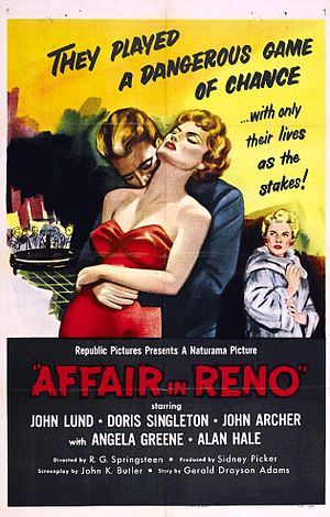 Affair in Reno - Theatrical release poster