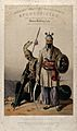Afghan leaders in military costume with armour and weapons, Wellcome V0050527.jpg