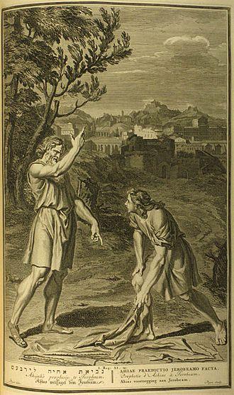 Jeroboam - Gerard Hoet, Ahijah's prophecy to Jeroboam, 1728.