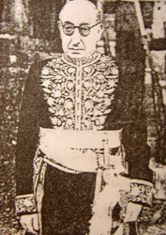 Ahmad Qavam - Ahmad Ghavām in the Imperial Court regalia.