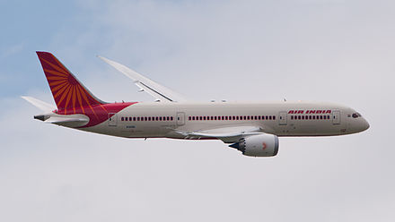 In January 2013, Air India cleared some of its debts by selling and leasing back the newly acquired Boeing 787 Dreamliners. Also, the airline posted its first positive EBITDA after almost six years Air India Boeing 787 Dreamliner N1008S PAS 2013 02.jpg