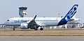 Airbus A320neo first takeoff at Toulouse Blagnac Airport 05.jpg