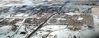 Airdrie, Alberta - Aerial view of Airdrie