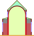 Aisleless church, lateral chapels.png