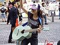 Akane Okada - Akanagi street live in Akihabara Station front south street (2007-09-06 15.30.15 by Daniel Rubio).jpg