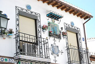 White Towns of Andalusia - Typical house in the province of Granada.