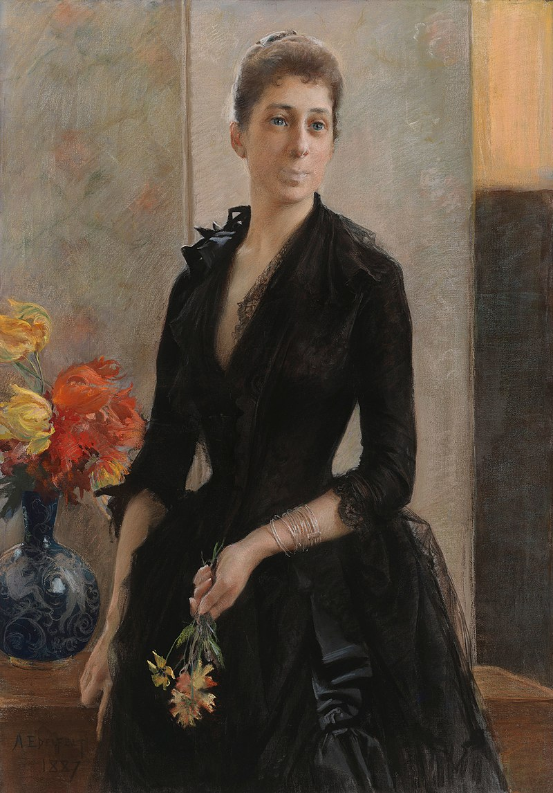 Albert Edelfelt - Portrait of Mme Weissgerber de Stragewicz, later Mme R. Berenger - A II 901 - Finnish National Gallery.jpg