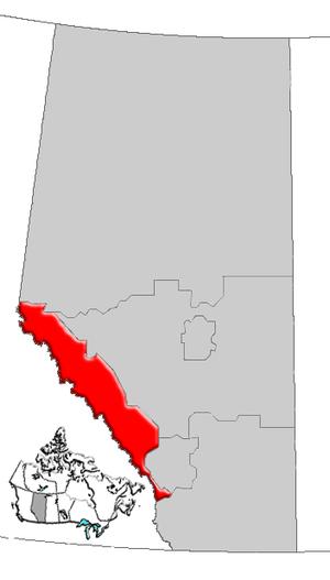 Alberta's Rockies - Image: Alberta rockies map