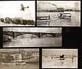 Album page with several snapshots of a Benoist flying boat on the Mississippi river.jpg