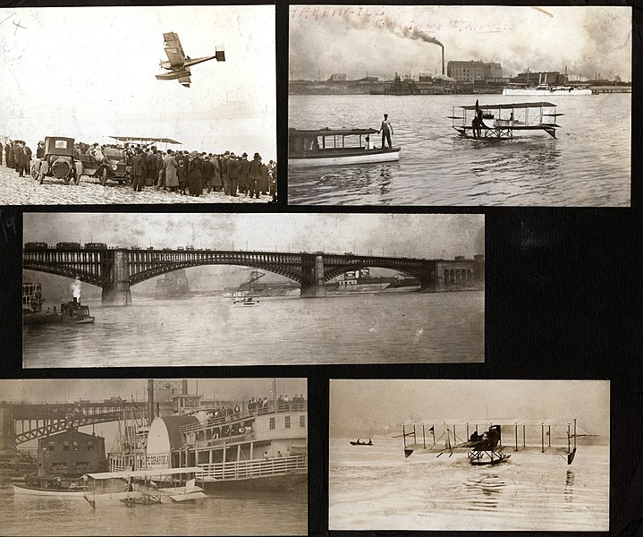 File:Album page with several snapshots of a Benoist flying boat on the Mississippi river.jpg