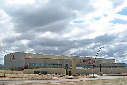 Albuquerque Studios, built in 2007 for the rising demand of film production in the state Albuquerque Studios.jpg