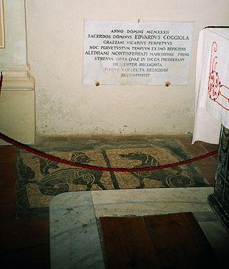 Aleramo, Marquess of Montferrat - Aleramo's tomb in the parish church of Grazzano Badoglio, Province of Asti.