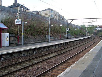 Alexandra Parade railway station - Image: Alexandra Parade railway station in 2009