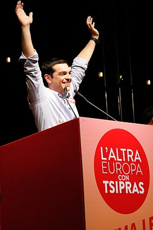 The Other Europe - Alexis Tsipras speaks during The Other Europe rally in Bologna.