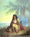 Alfred Jacob Miller - Indian Girl (Sioux) - Walters 37194022.jpg