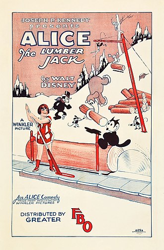 Alice Comedies - Poster for the 1926 film Alice the Lumber Jack Margie Gay plays Alice