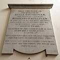 All Saints Church, Middle Claydon, Bucks, England - Eliza O'Sullivan tablet memorial.jpg