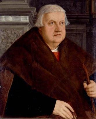 Konrad Peutinger - Portrait by Christoph Amberger, 1543