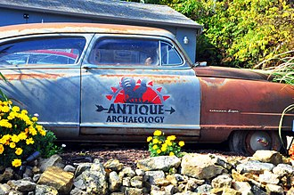 American Pickers - The Nash Statesman Super in front of the Antique Archaeology building in Le Claire, Iowa