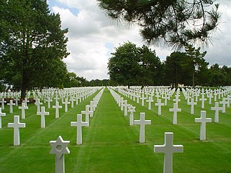 War grave - Normandy American Cemetery in 2003.