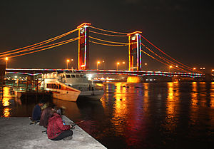 Ampera brig, the major landmark o Palembang