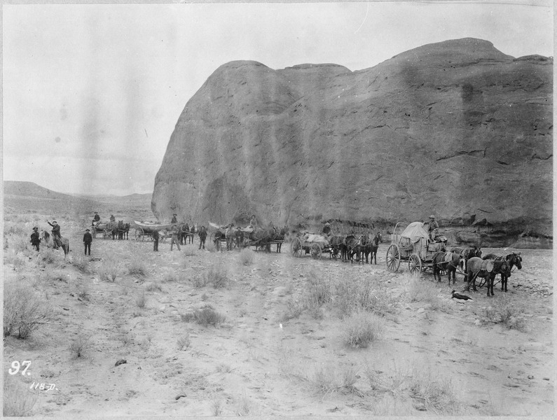 File:An overland caravan laden with boats. Robert B. Stanton's Denver, Colorado Canyon, and Pacific Railway Survey, 1889-90 - NARA - 518033.tif