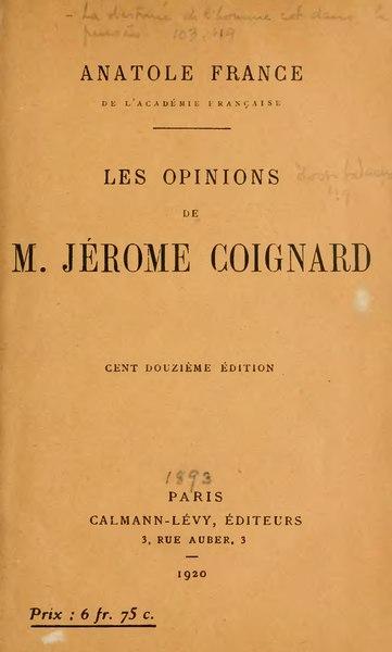 File:Anatole France - Les Opinions de Jérôme Coignard.djvu