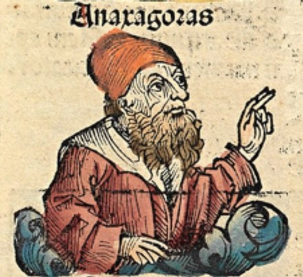 Anaxagoras, depicted as a medieval scholar in the Nuremberg Chronicle Anaxagoras Nuremberg Chronicle.jpg