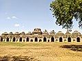 Ancient ruins of elephant Stable, HAMPI.jpg