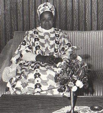 Ahmed Sékou Touré - Andree Touré, his wife and the First Lady of Guinea.