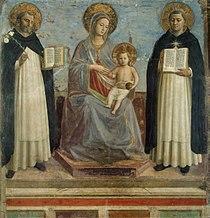 Angelico, maria tra i santi domenico e tommaso d'aquino.jpg