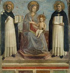 The Virgin and Child with Sts Dominic and Thomas Aquinas