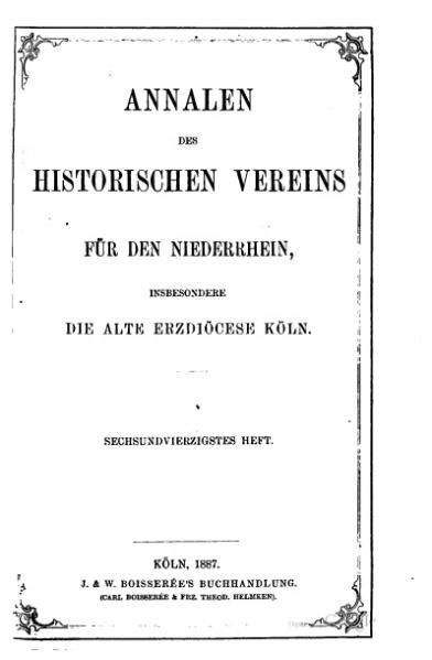 File:Annalen des Historischen Vereins für den Niederrhein 46 (1887).djvu