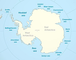 Cooperation Sea - The proposed Cooperation Sea name as part of the Southern Ocean
