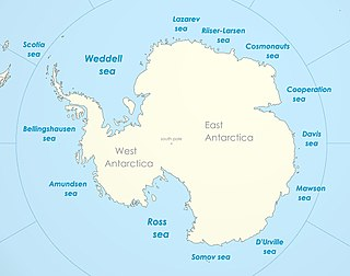Part of the Southern Ocean between Coats Land and the Antarctic Peninsula