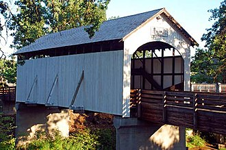 National Register of Historic Places listings in Jackson County, Oregon - Image: Antelope Creek Covered Bridge (Jackson County, Oregon scenic images) (jac DA0027)