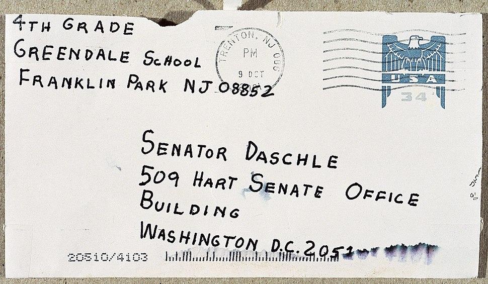 Anthrax Envelope to Daschle