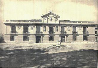 Palacio de La Moncloa before the Spanish Civil War - Facade of the Palacio de La Moncloa before the Spanish Civil War (photo taken in 1920).