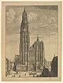 Antwerp Cathedral (Prospectvs Tvrris Ecclesiæ Cathedralis) MET DP827153.jpg