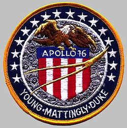 Apollo 16 missionstecken.
