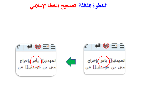 Arabic wikipedia tutorial fixing a typo (4).png