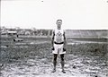 Archie Hahn of the Milwaukee Athletic Club, winner of the 60, 100, and 200 meter running events at the 1904 Olympics.jpg
