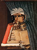 'The Librarian', a 1556 painting by Giuseppe Arcimboldo