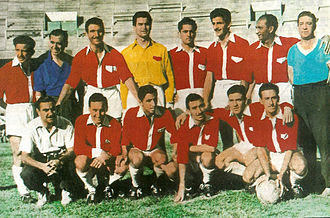 Argentinos Juniors - The Argentinos Juniors team that in 1955 won the championship promoting to Primera División.